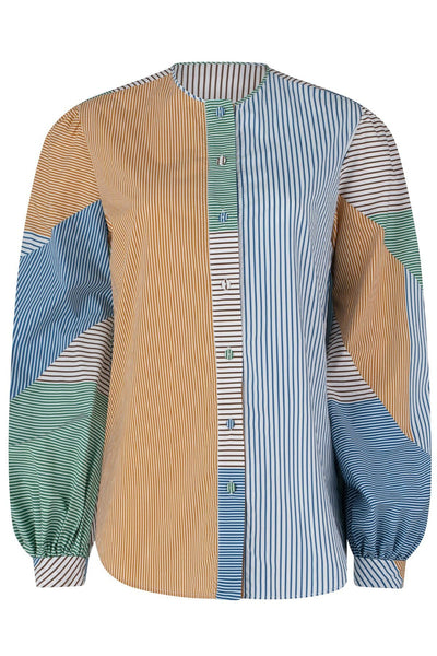 Filia Blouse in Cactus Garden Stripes