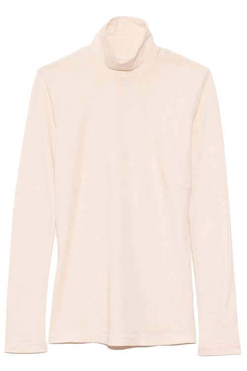 Long Sleeve Turtleneck in Washed White