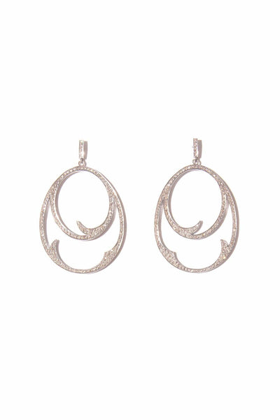 Thorn Ovals Earrings in Sterling Silver