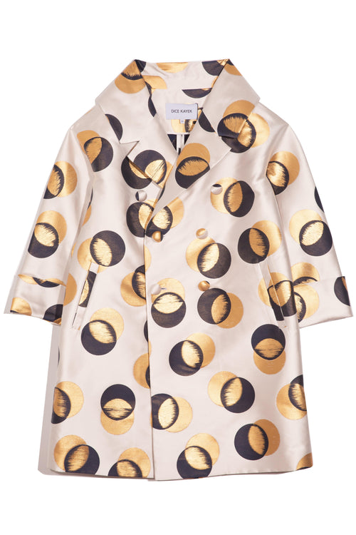 Circle Coat in Gold