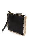 Dey Leather Crochet Crossbody in Black
