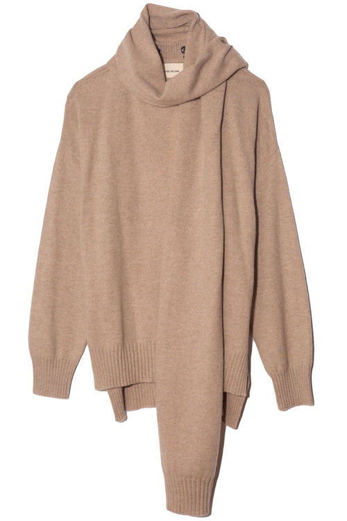 Spano Scarves Sweater in Beige Melange