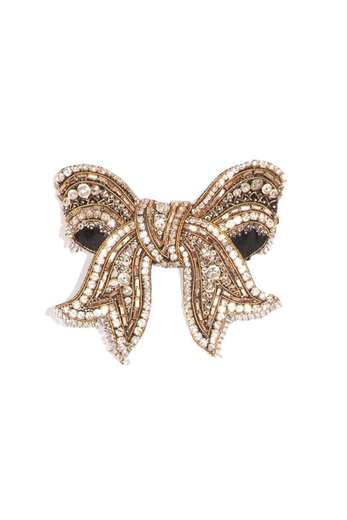 Ribbon Brooch in White