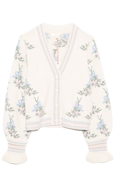 Boscom Cardigan in Dew Drop Cream