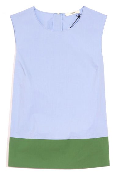 Sleeveless Colorblock Top in Azur