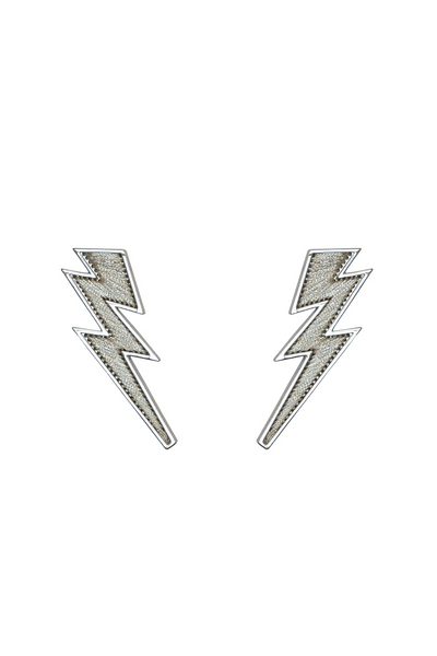 Lightening Bolt Earring in Silver