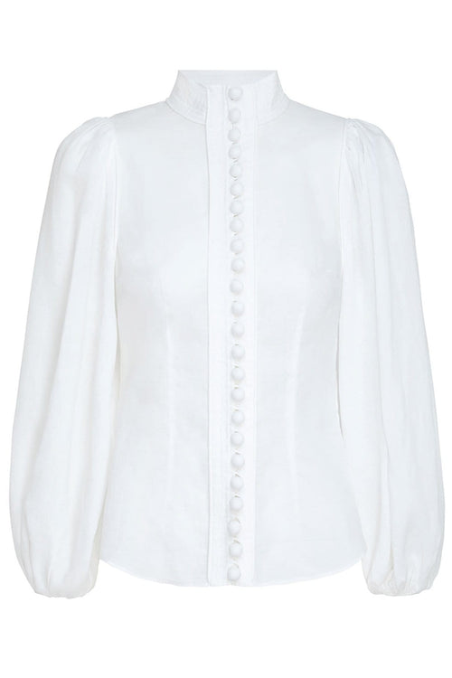 Brightside Piped Body Shirt in Pearl