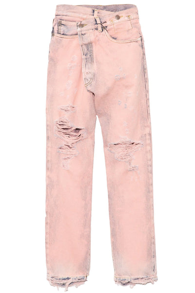 Crossover Jean in Faded Pink Garment Dye