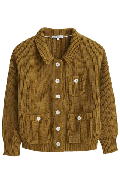 Work Sweater Jacket in Golden Olive
