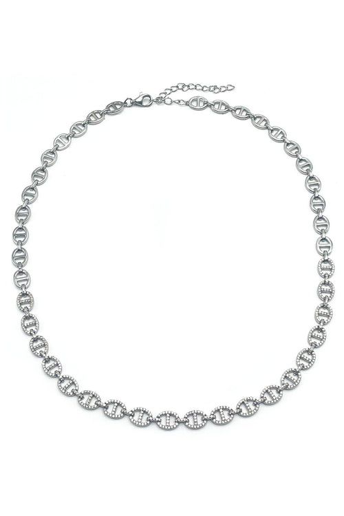 Pave Horse Bit Necklace