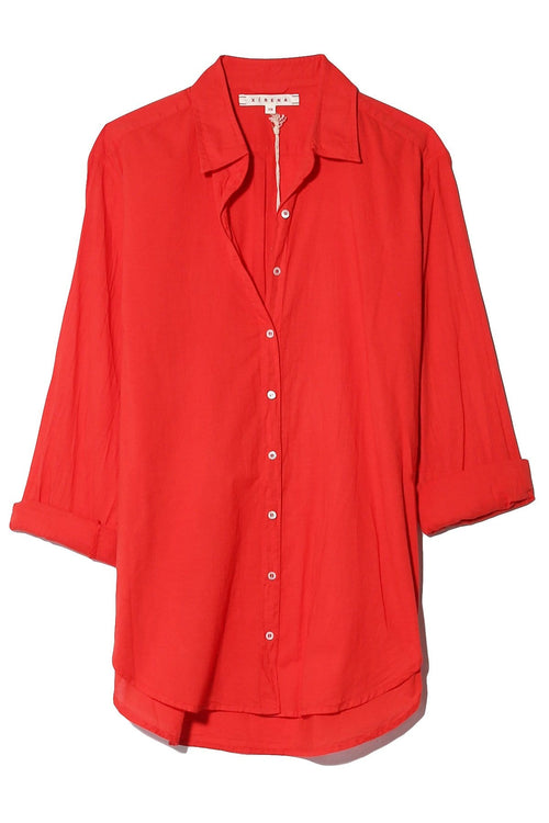 Beau Shirt in Sunset Red
