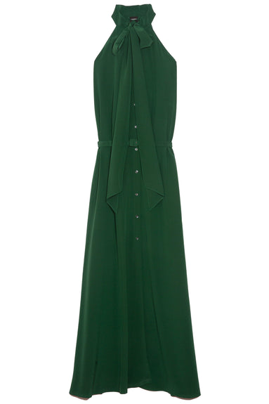 Button Front Gown in Green