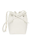 Croc Embossed Mini Bucket Bag in White