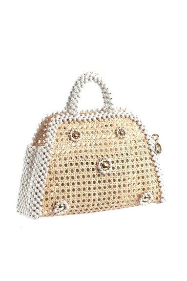 Alida Small Embellished Bag in Wicker