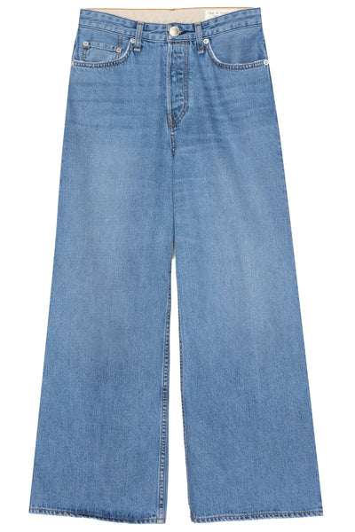 Maya High Rise Ankle Wide Leg Jean in Celestial