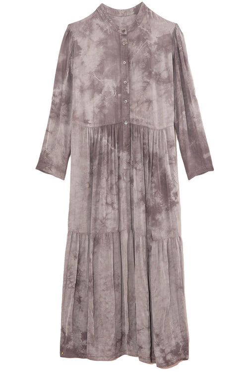 Twila Dress in Silver Tie Dye