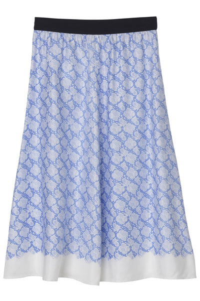 Biella Skirt in Pacific Blue