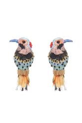 Woodpecker Earring in Multi