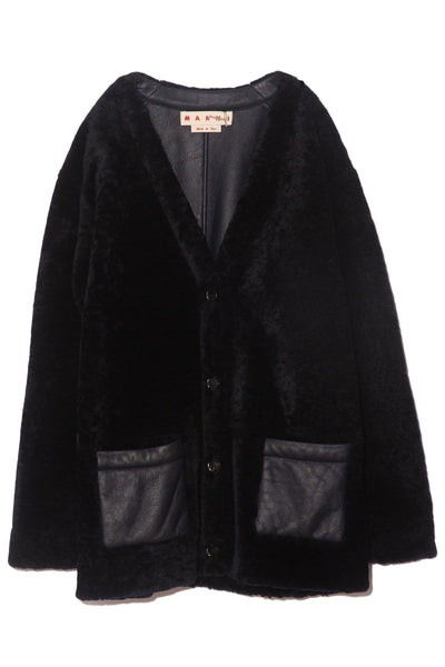 Shearling Jacket in Blublack