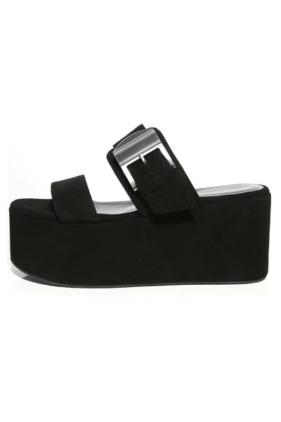 Coaster Platform Sandal in Black