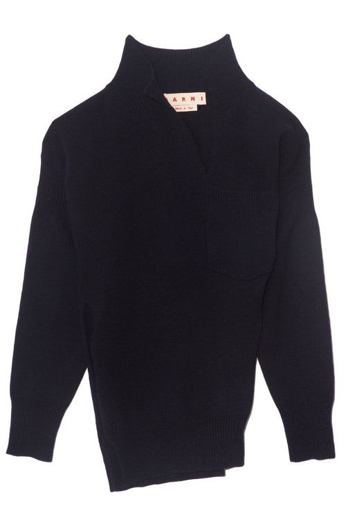 Long Sleeve V-Neck Sweater in Ultramarine