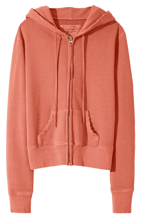 Callie Zip Up Hoodie in Earth Rose