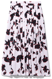 Printed Georgette Skirt in Powder Pink/Red Painted Iris