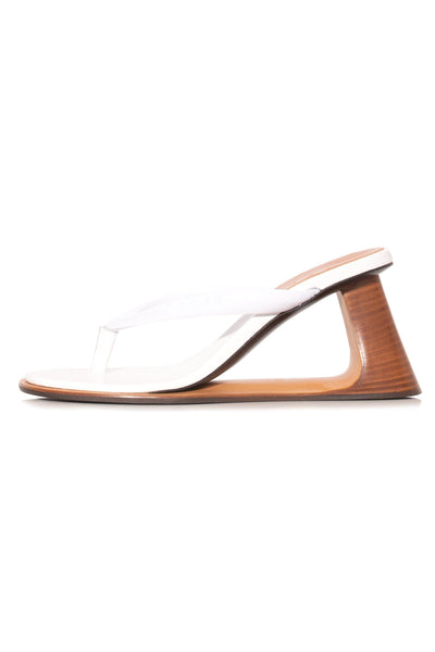 Wedge Thong Sandal in Lily White