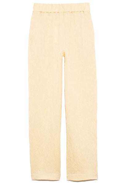 Elastic Waist Trouser in Cream