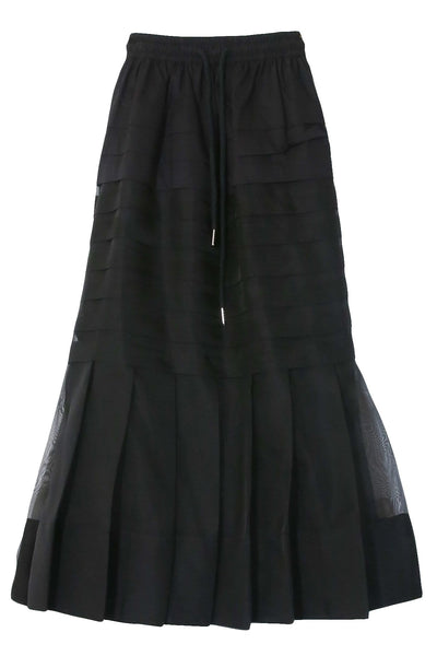Callie Pleat Skirt in Black