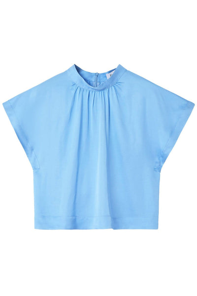 Lau Top in Bluebird Blue