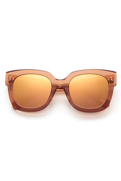 #008 Mirror Sunglasses in Peach