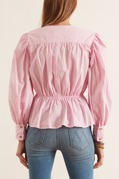Talita Cotton Top in Baby Pink