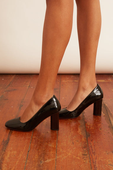 Juline Pump in Black Patent