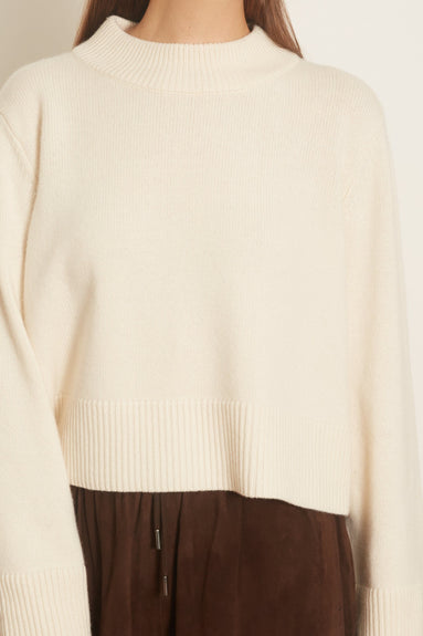 Boxy Crewneck Sweater in Ivory
