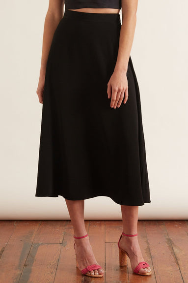 Flared Skirt in Black