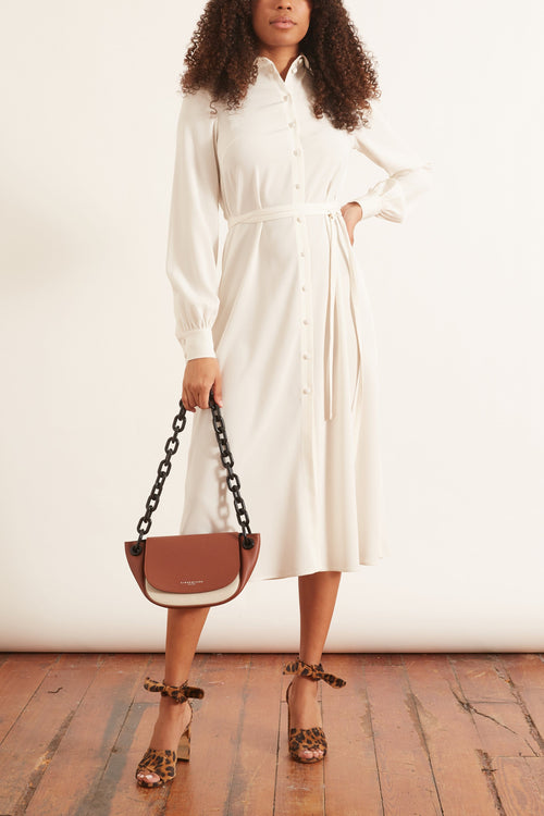 Long Shirt Dress in Ivory