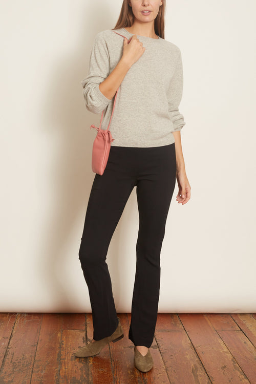 Raglan Peasant Sleeve Sweater in Light Grey