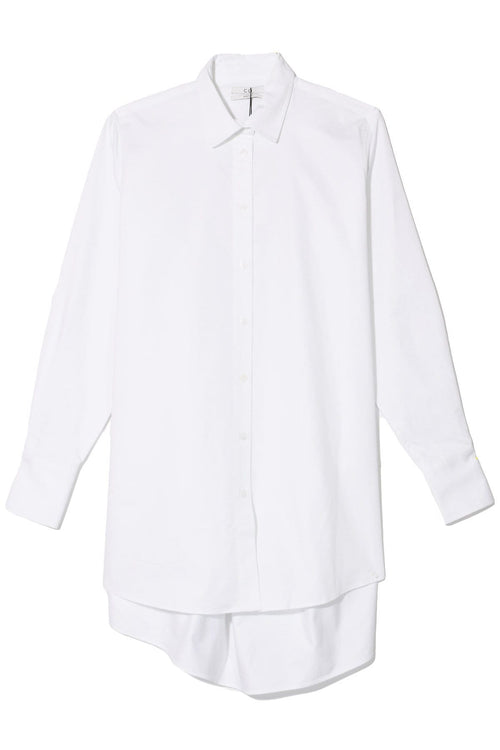 Button Down Tunic in White
