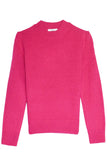 Cashmere Puff Shoulder Sweater in Pink
