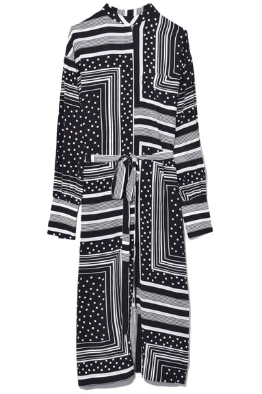 Long Shirtdress in Geometric