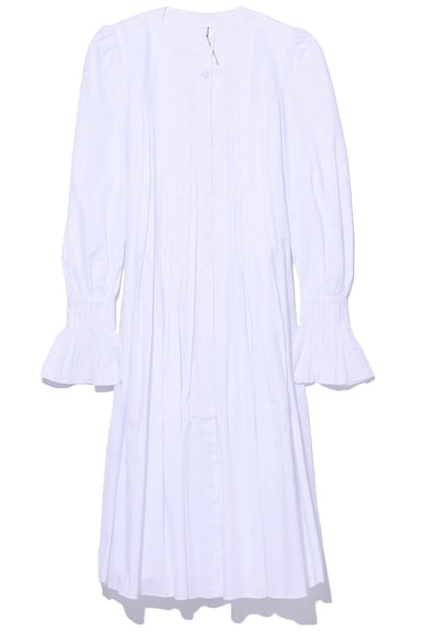 Pleated Dress in White