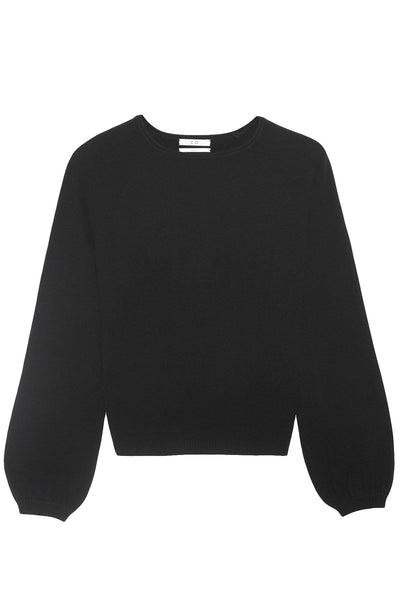 Raglan Peasant Sleeve Sweater in Black