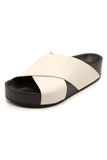 Slide Sandal in White
