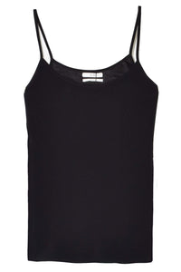 Stretch Crepe Cami in Black