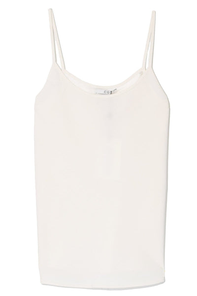 Stretch Crepe Cami in Ivory