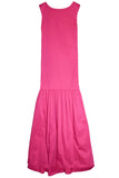 Stretch Sateen Scoop Back Gown in Pink