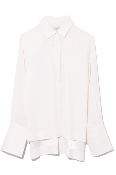 Wide Cuff Buttondown Shirt in Ivory