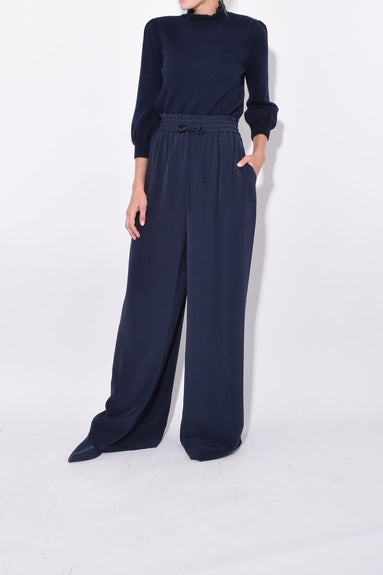 Wide Leg Pants in Navy