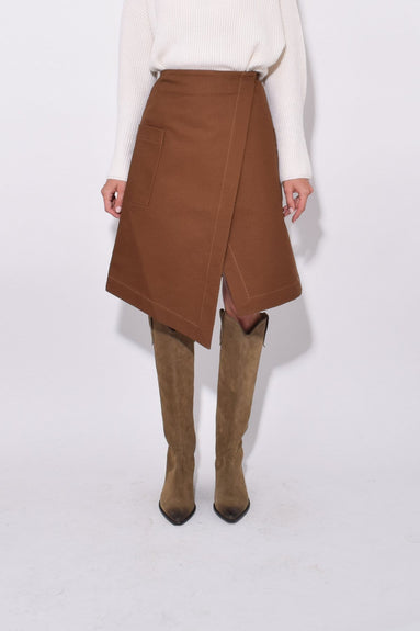 Wrap Skirt in Chestnut